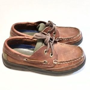 Sperry Boys Leather  shoes Moccasins Size 11